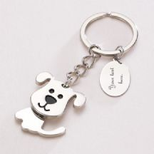 Dog Keyring with Engraving